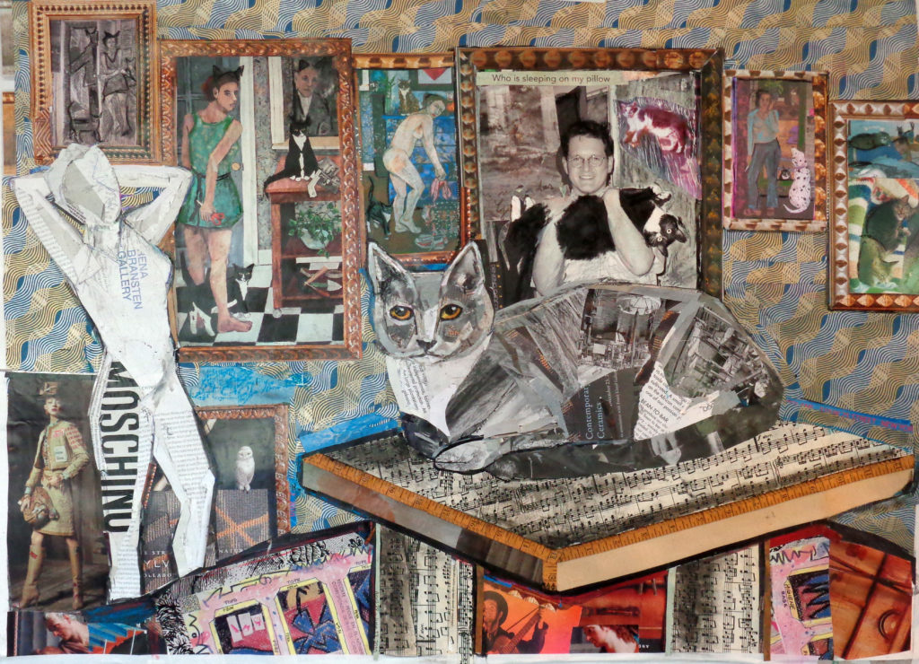 I Got This by Kathryn DeMarco, collage, 34 x 26 at Craven Allen Gallery