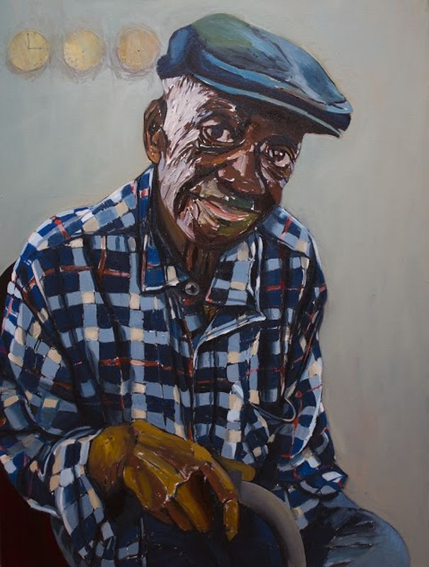 Taxi Driver, oil on canvas, 36 x 48  by Beverly McIver at Craven Allen GallerySOLD