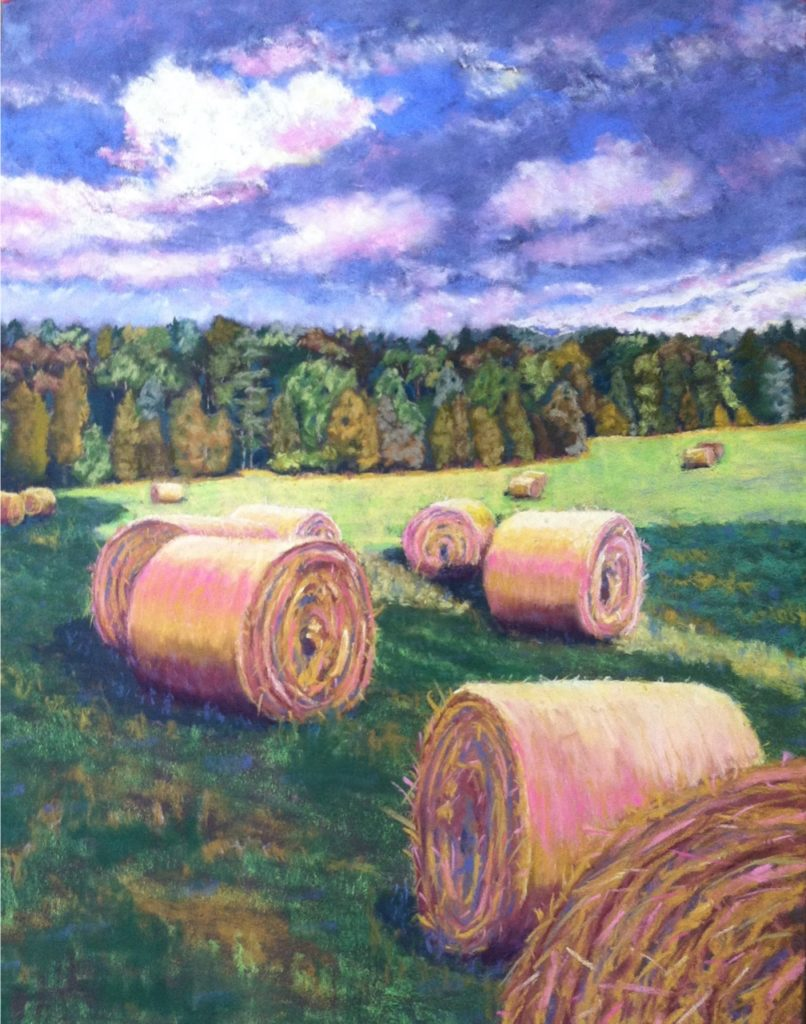 7:30 PM by A. Hunter Taylor, pastel, 25.5 x 19.5 at Craven Allen Gallery