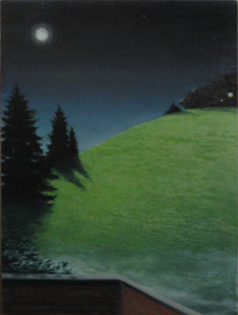 Bea's Moonlight by Sue Sneddon, oil on canvas, 16 x 12 at Craven Allen Gallery     950