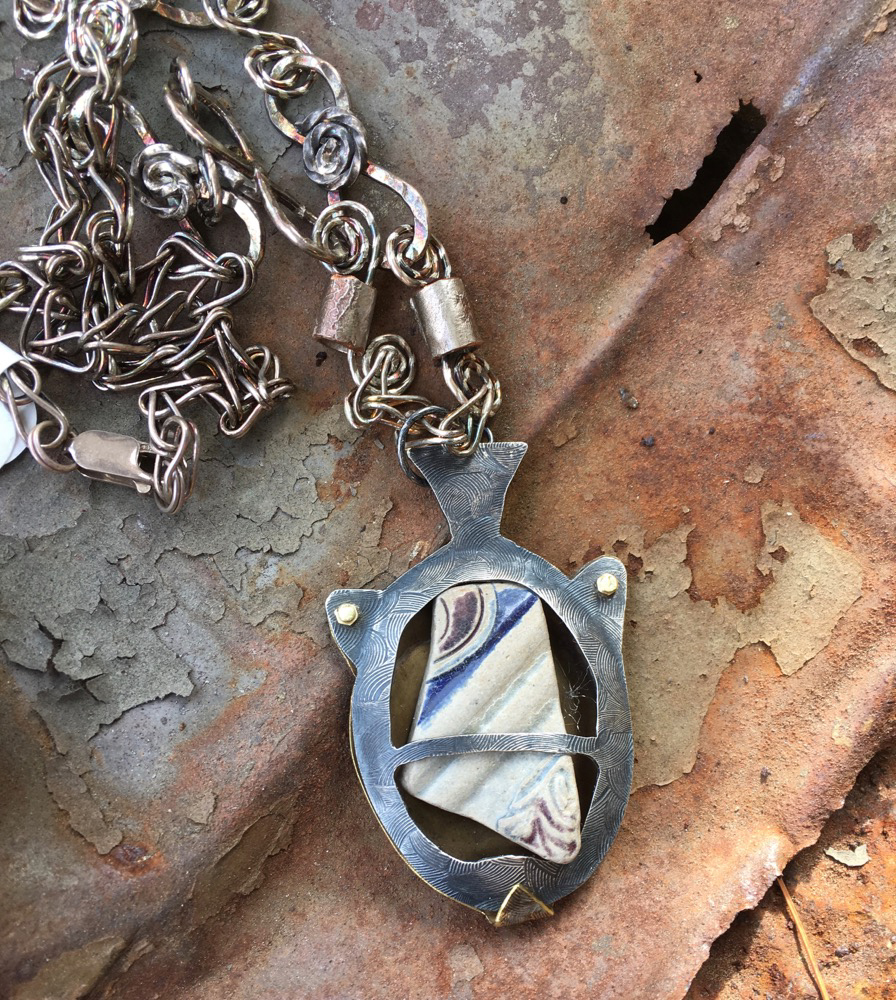 Bellermine pendant front, Mudlark Series by Madelyn Smoak at Craven Allen Gallery