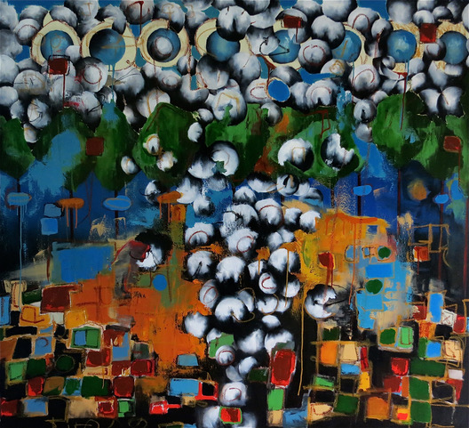 Cheyenne by Ben Bridgers oil on canvas 60 x 56 at Craven Allen Gallery