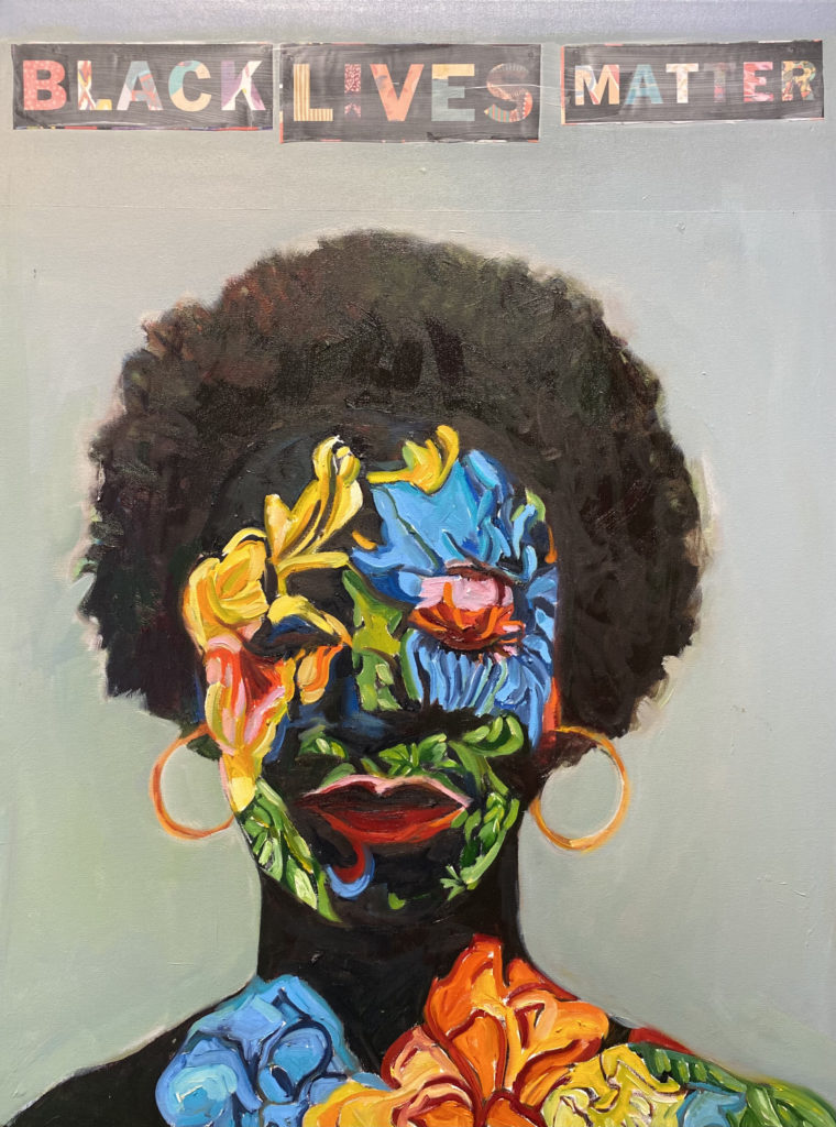 Black Lives Matter by Beverly McIver, oil on canvas, 40 x 30 at Craven Allen Gallery  30,000