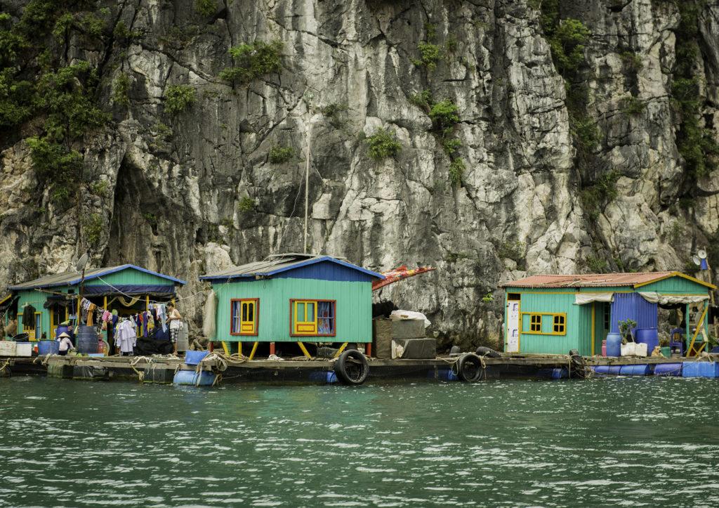 Vietnam Water Village, Ha Long Bay by Greg Plachta, photograph at Craven Allen Gallery