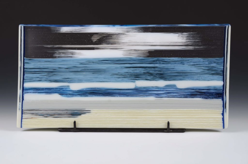 Fused Glass panel by Shawhan Lynch at Craven Allen Gallery