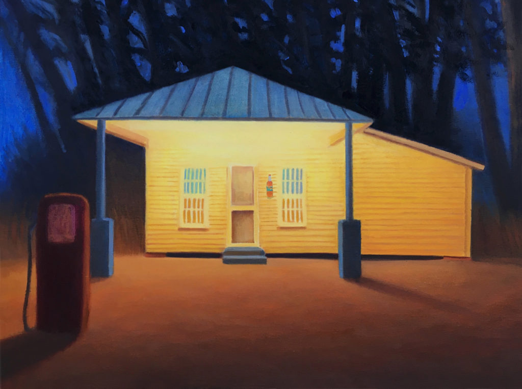 Deadwood Station Revival by David Davenport 18X24 oil on canvas at Craven Allen Gallery  1800