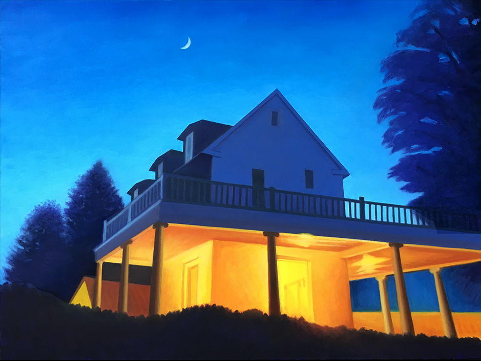 Empire of Light by David Davenport 30X40 oil canvas at Craven Allen Gallery  3800