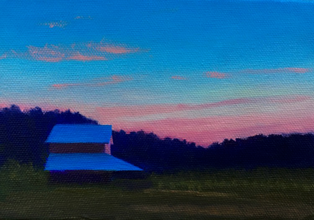 Last Light  by David Davenport 5X7 oil on canvas at Craven Allen Gallery  400