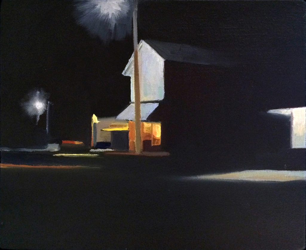 Midnight Oil by David Davenport 24X30 oil on canvas at Craven Allen Gallery  3500