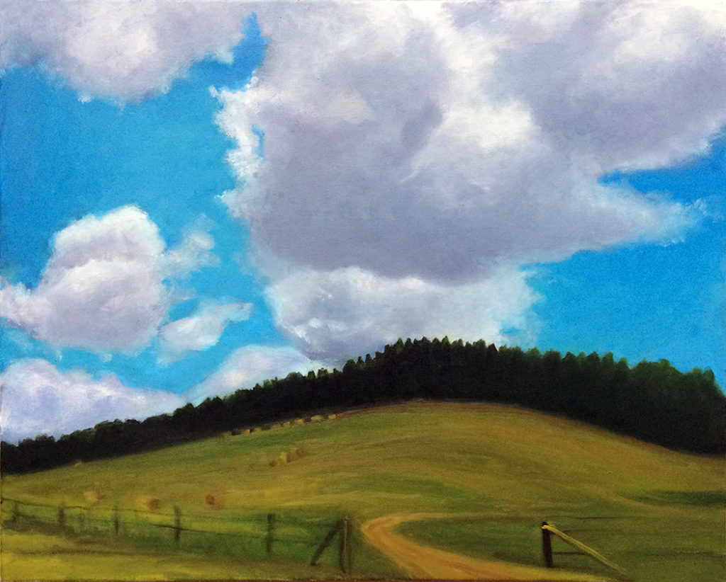 Mountain Clouds by David Davenport 16X20 oil on canvas at Craven Allen Gallery  1400