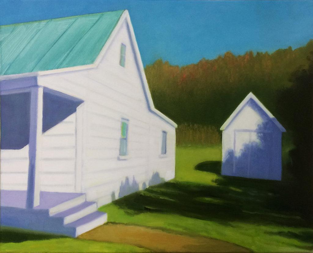 Salt Box Autumn by David  Davenport 12X16 oil on canvas at Craven Allen Gallery 1200