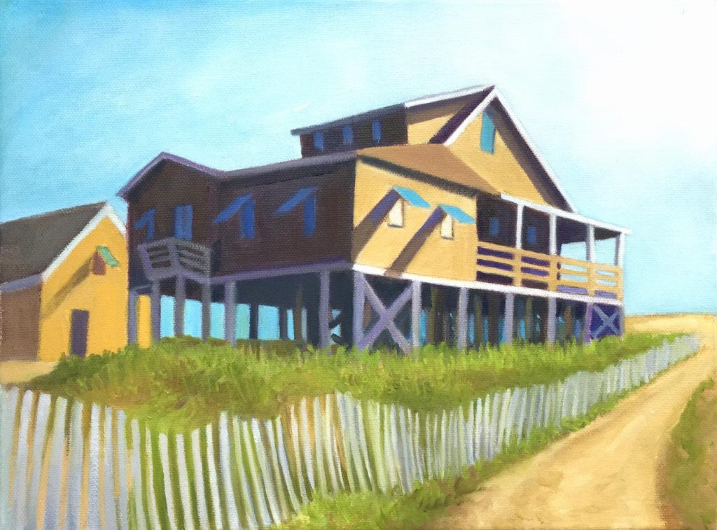 Sandcastle by David Davenport 9X12 oil on canvas at Craven Allen Gallery   840