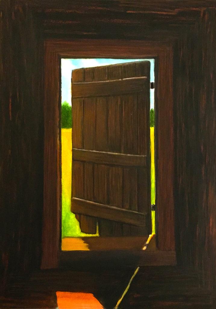 Threshold by David Davenport watercolor11X14 FrameGlass at Craven Allen Gallery 1100