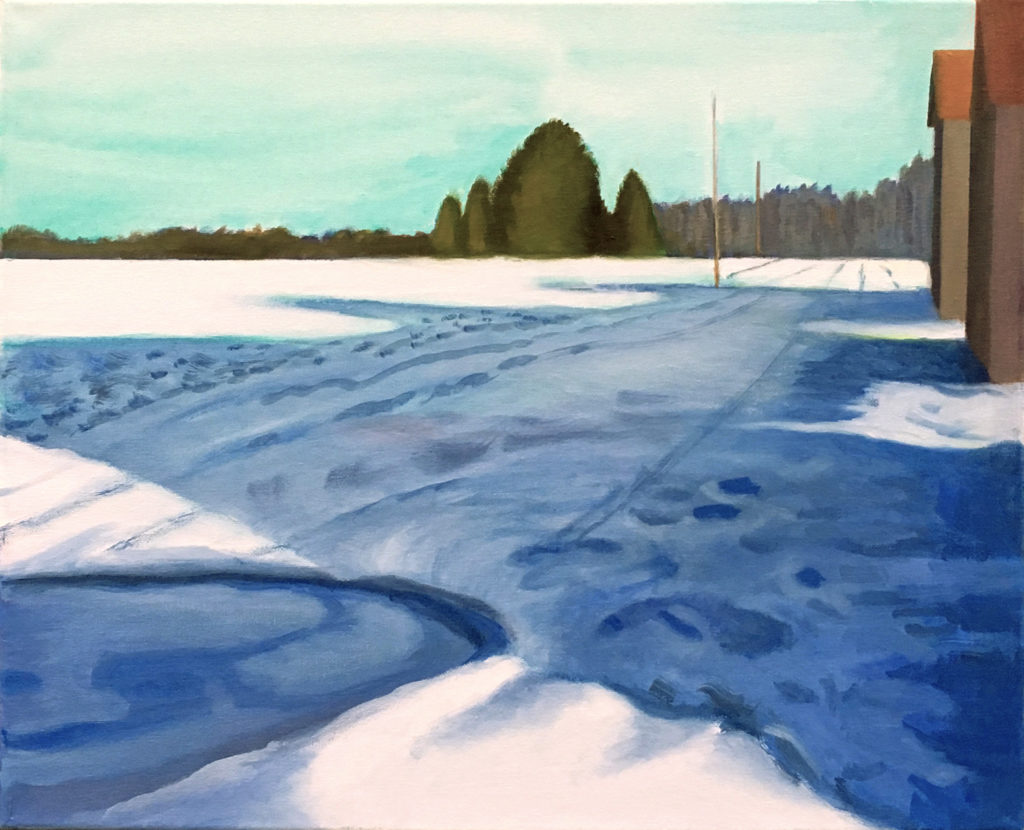 Winter by David Davenport 16X20 oil on canvas at Craven Allen Gallery  1400