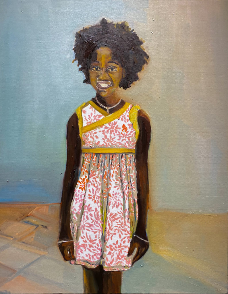 Eloise I by Beverly McIver, oil on canvas, 30  x 24 at Craven Allen Gallery  25,000