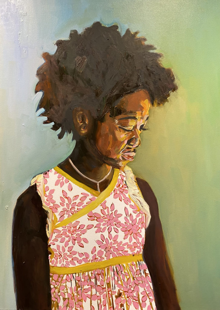 Eloise I  by Beverly McIver, oil on canvas, 40 x 30 at Craven Allen Gallery  SOLD