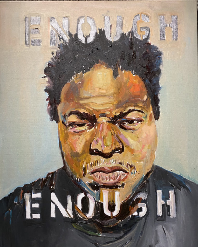 Enough by Beverly McIver, oil on canvas, 30 x 24 at Craven Allen Gallery  25,000
