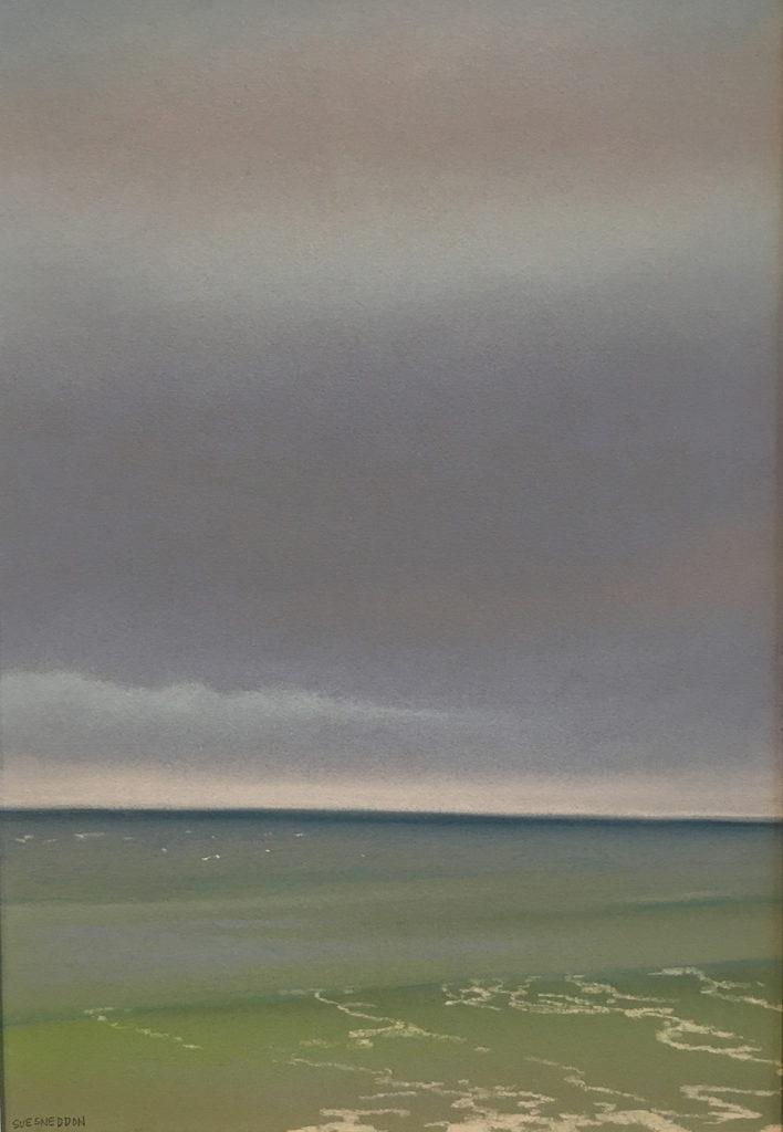 February Window II by Sue Sneddon, pastel, 13 x 9 at Craven Allen Gallery
