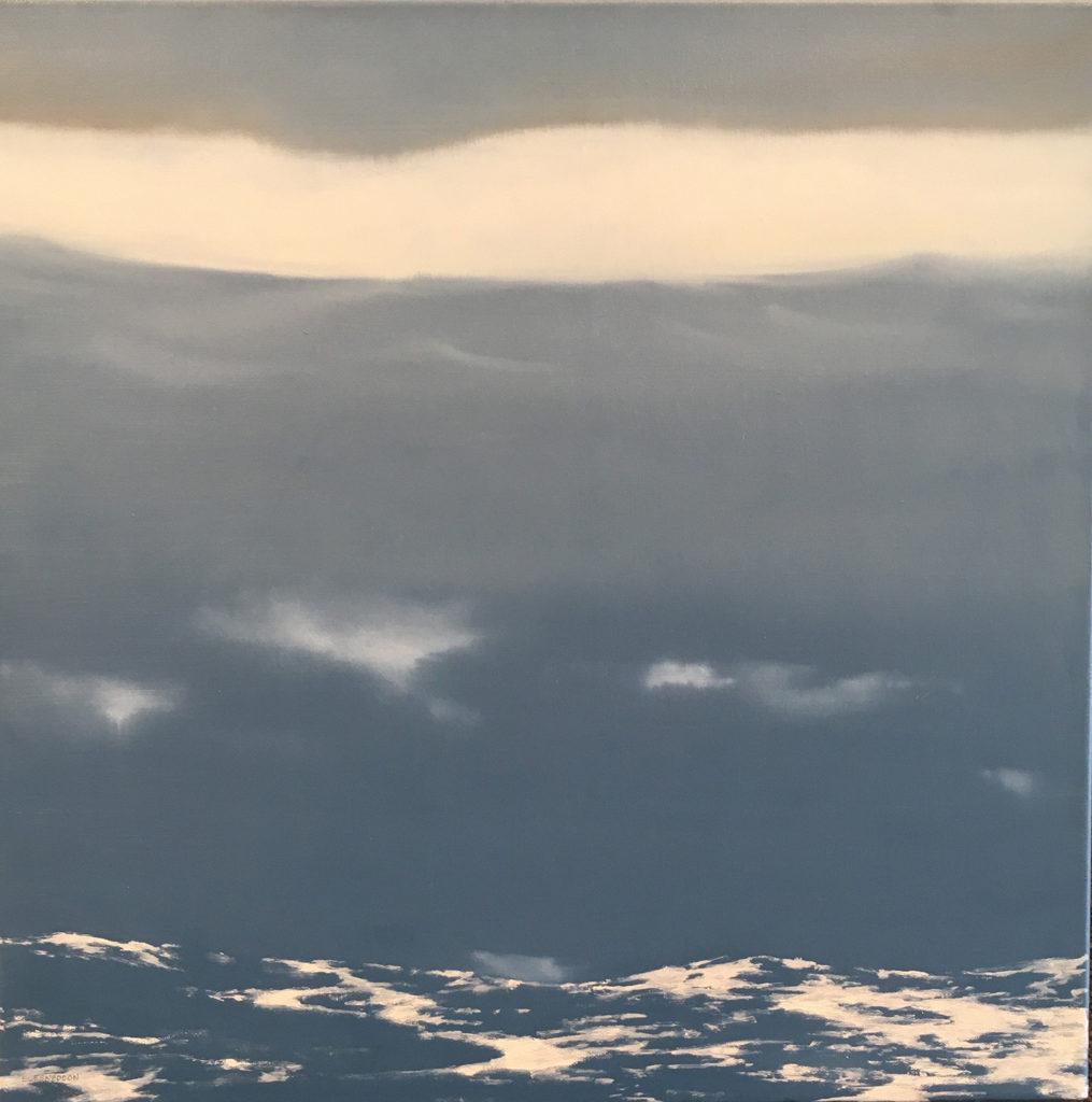 Fog to Rain by Sue Sneddon, oil on canvas, 20 x 20 at Craven Allen Gallery