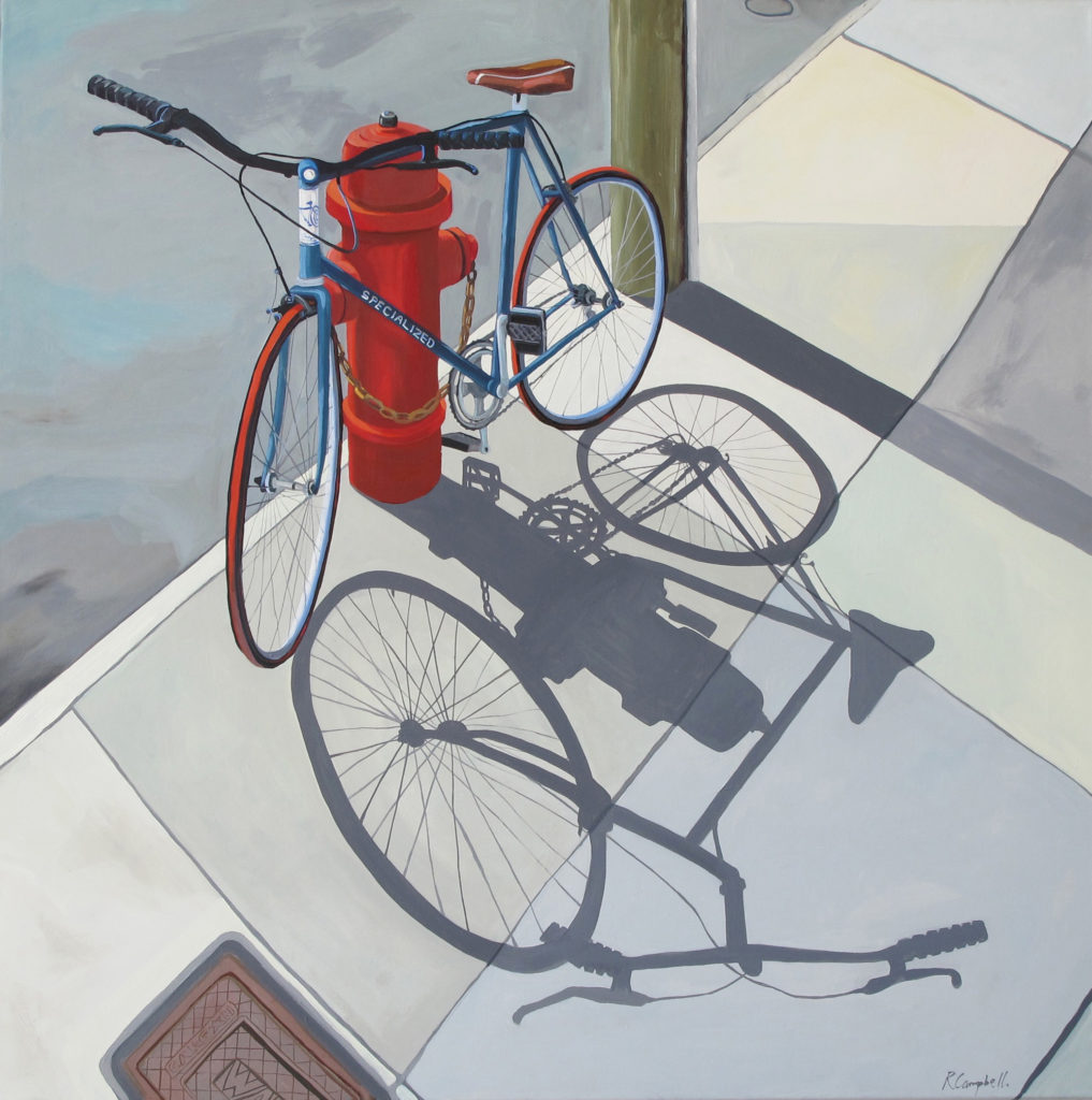 Foster St II oil on canvas by Rachel Campbell at Craven Allen Gallery