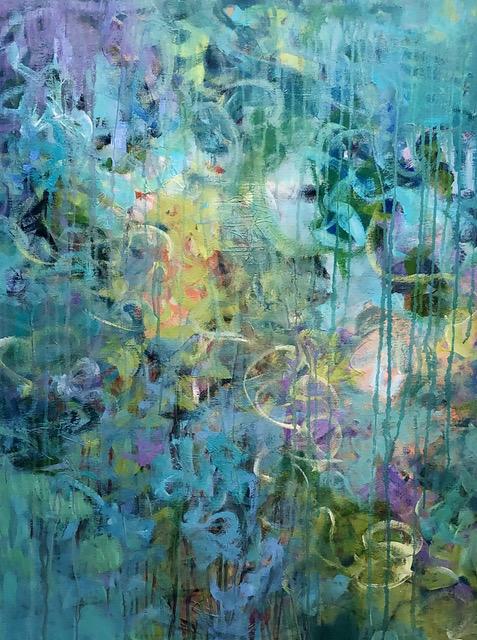 Garden Morning Light by Peg Bachenheimer,  acrylic on canvas, 40×30 at Craven Allen Gallery  1000