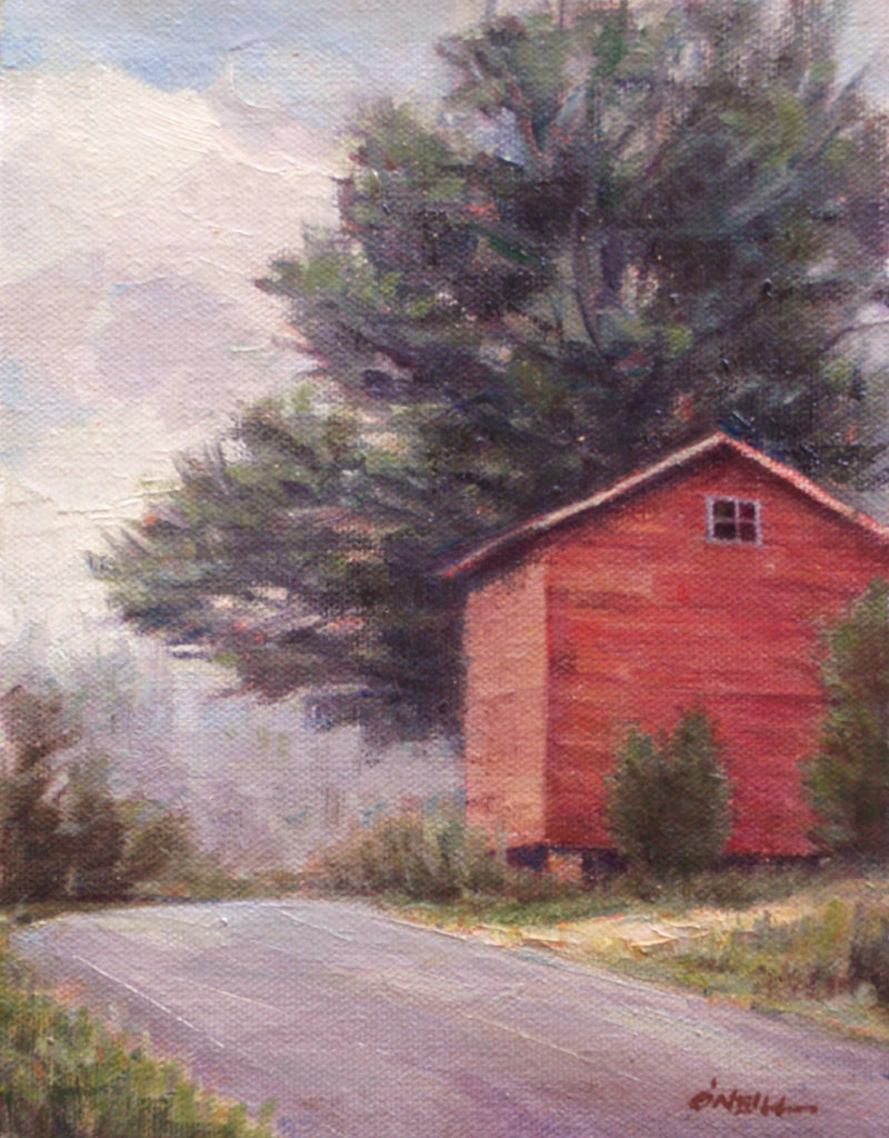 Bahama Barn by Gerry O'Neill, oil on canvas, 8x10 at Craven Allen Gallery