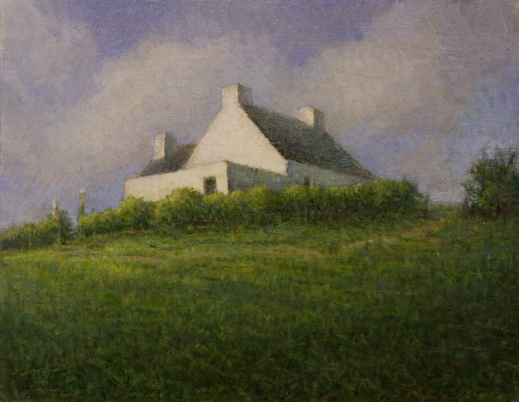 House at the Top of the World by Gerry O'Neill, oil on canvas, 8×10 at Craven Allen Gallery