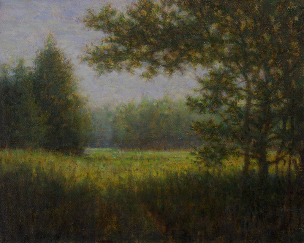 The Field by Gerry O'Neill, oil on canvas, 8×10 at Craven Allen Gallery
