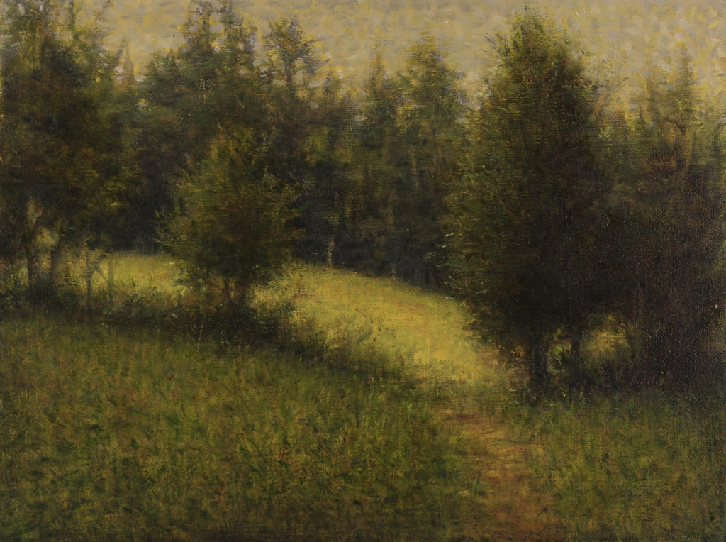 Upper Meadow by Gerry O'Neill, oil on canvas, 9×12 at Craven Allen Gallery