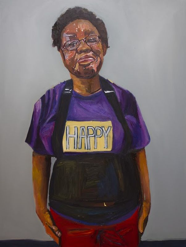 Happy Renee. oil on canvas 48×36 by Beverly McIver at Craven Allen Gallery