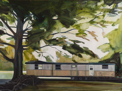 Hwy 70, oil on polycotton, 36×48 by Rachel Campbell at Craven Allen Gallery