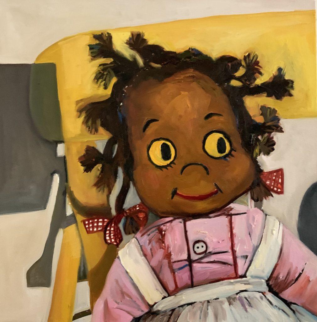 Gracie by Beverly McIver, oil on canvas, 20 x 20 (Winston Salem)