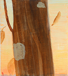 Study for Giorgione's Tree, egg tempera on paper, 4.5 x 4 by John Beerman at Craven Allen Gallery