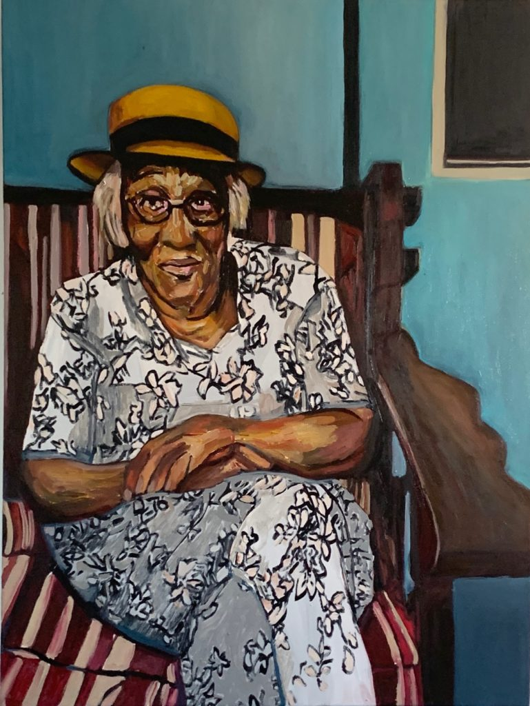 Margaret by Beverly McIver, oil on canvas, 40 x 30 at Craven Allen Gallery  30,000