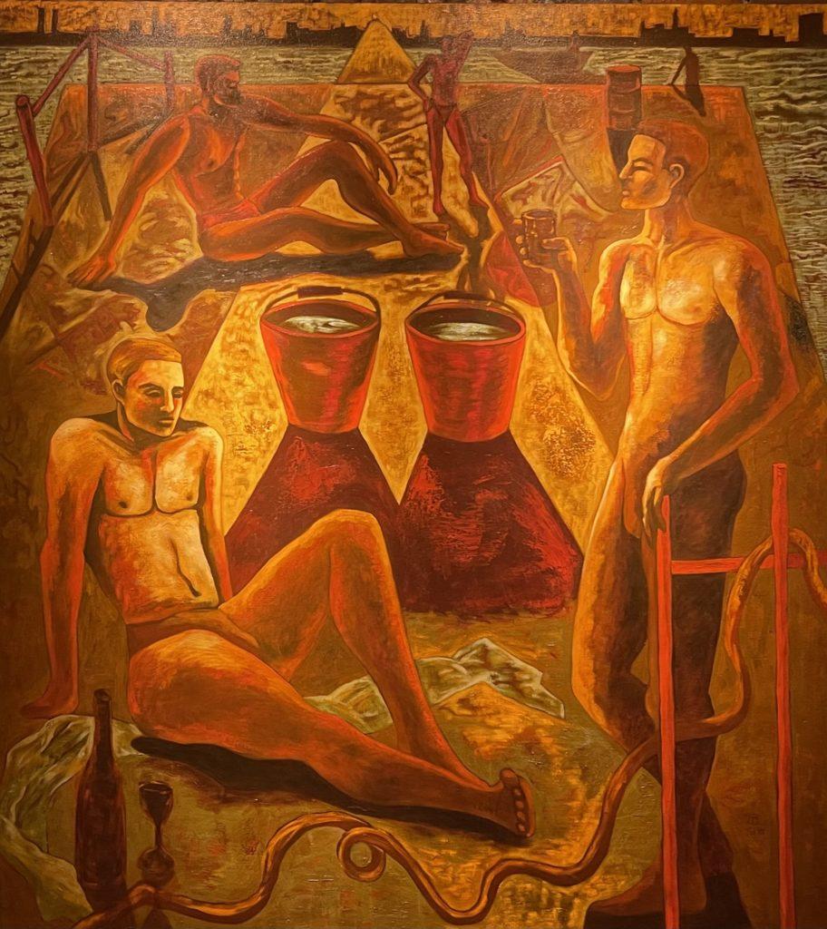 "Harmonious Life by Michael Tice 72"" x 66"" oil on canvas  7000"