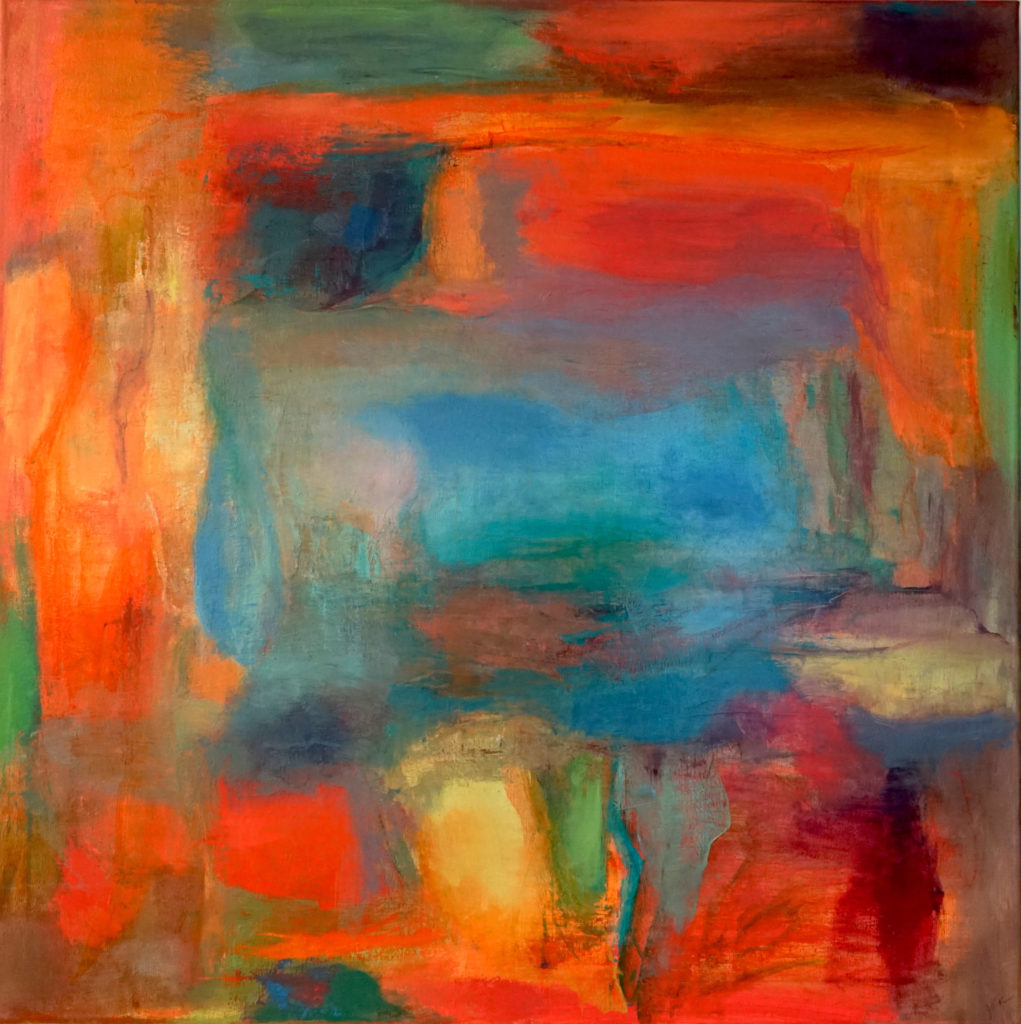 Arroyo by Judy Keene, oil on linen, 30 × 30 at Craven Allen Gallery.