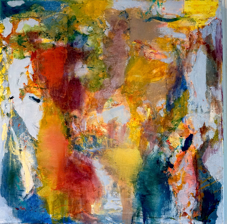 Flow State. oil on canvas, 20 x 20 by Judy Keene at Craven Allen Gallery