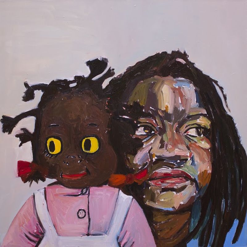 Look Away, oil on canvas by Beverly McIver at Craven Allen Gallery