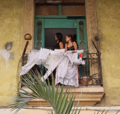 Two Girls on Balcony by Elizabeth Matheson, photograph, at Craven Allen Gallery