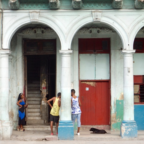 Conversation, Havana by Elizabeth Matheson, photograph, at Craven Allen Gallery