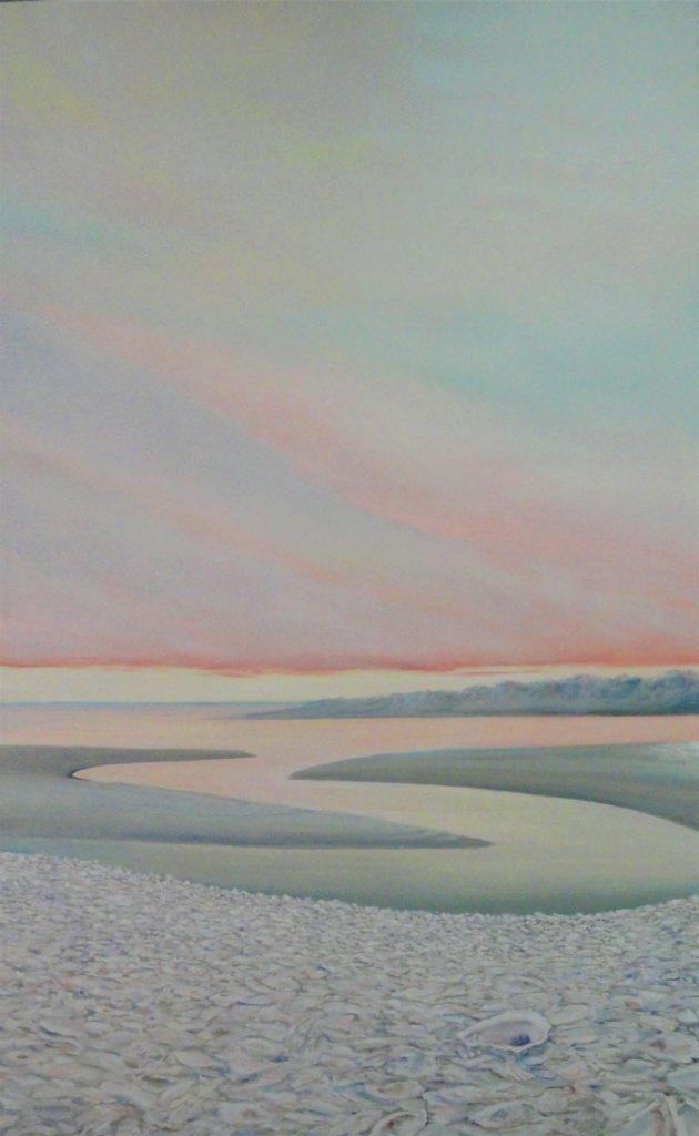 Pawley's Island Pink by Sue Sneddon, oil on canvas, 48 x 30 at Craven Allen Gallery   9500