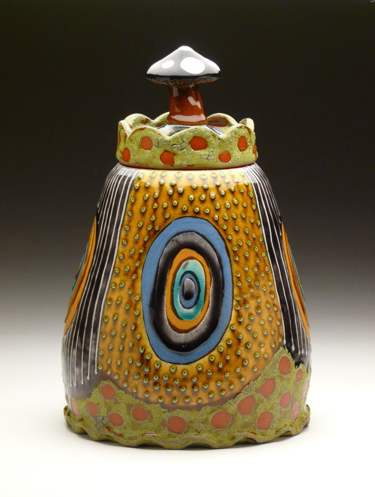 Royal Stump Jar by Ronan Peterson, red earthenware, 12 x 10 x 10 at Craven Allen Gallery