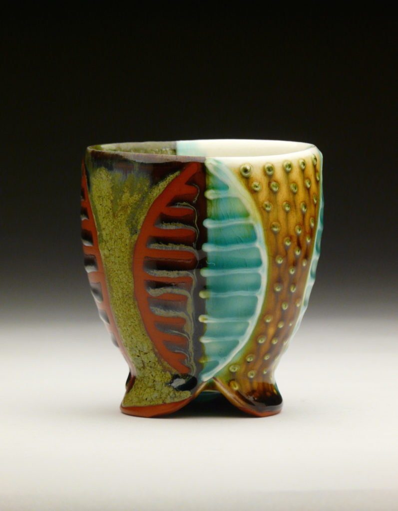 Seed Cup by Ronan Peterson, red earthenware, 3 x 3 x 3 at Craven Allen Gallery