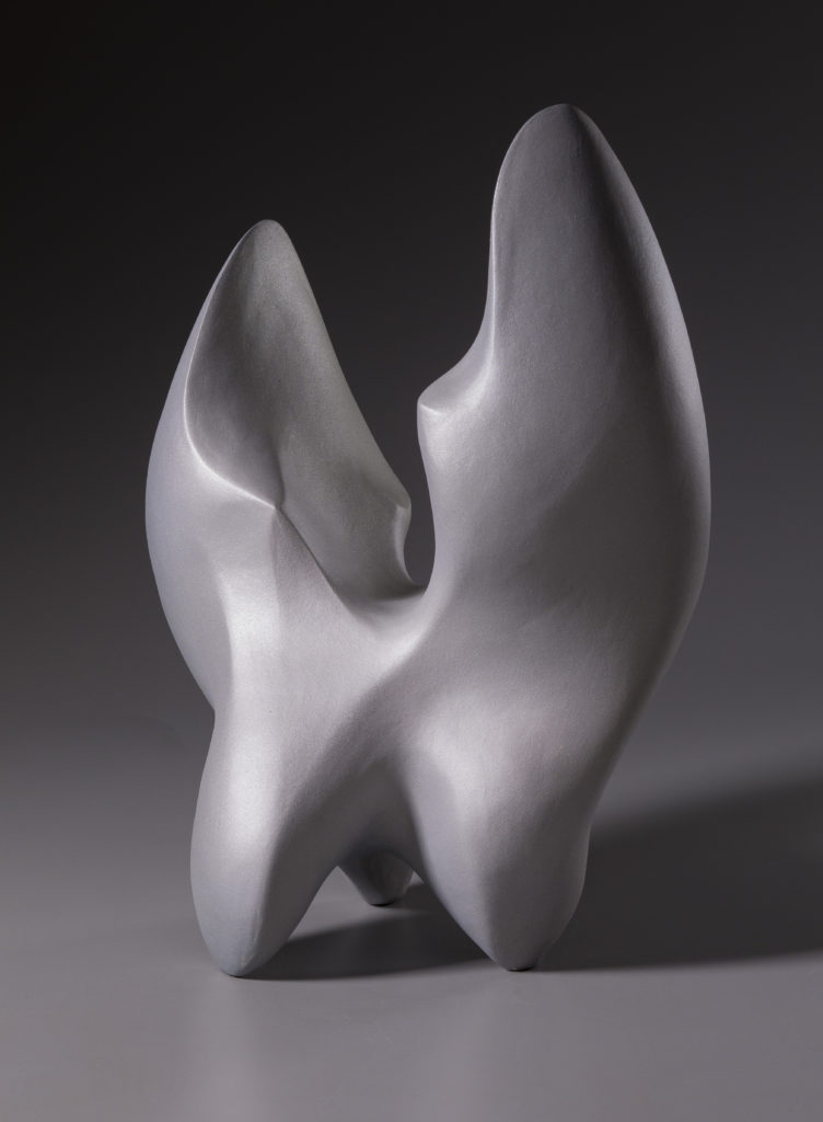 Drop by Rosalie Midette, ceramic and mica, 11x8x18 at Craven Allen Gallery