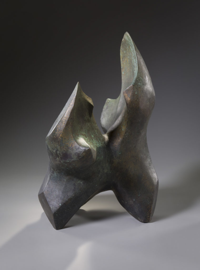 Figure by Rosalie Midyette, bronze, 12x16x26 at Craven Allen Gallery
