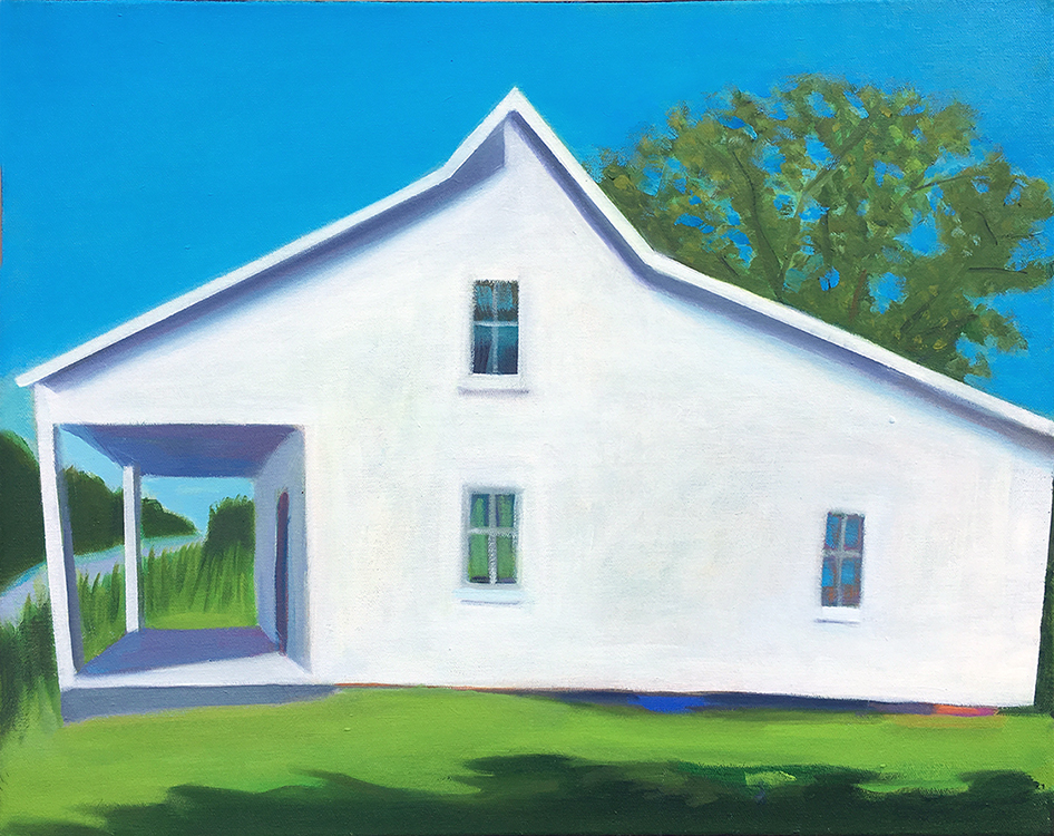 Salt Box Summer by David Davenport, oil, 16 x 20 at Craven Allen Gallery