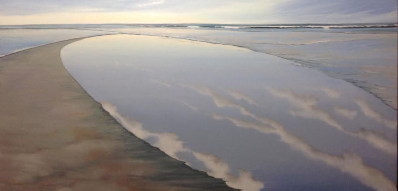 Sky Pool by Sue Sneddon, oil on canvas 24 x 48 at Craven Allen Gallery