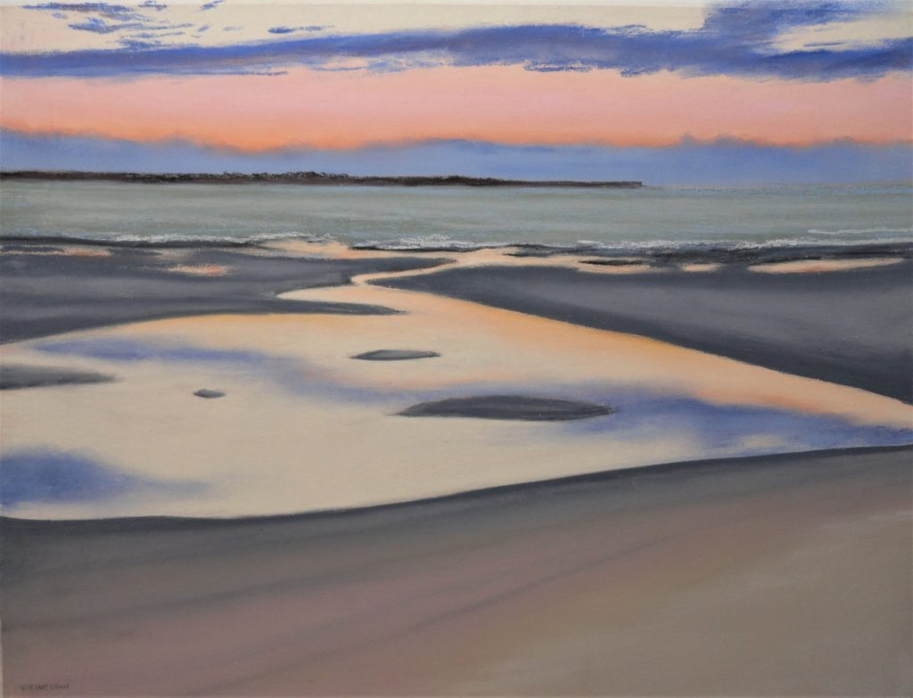 Sound Confluence by Sue Sneddon pastel 8.5 x 11.5 framed size 16 x 19 at Craven Allen Gallery  850