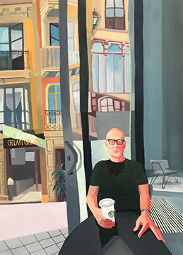 That Guy in Starbucks with a Venti and a Fitbit by Rachel Campbell at Craven Allen Gallery