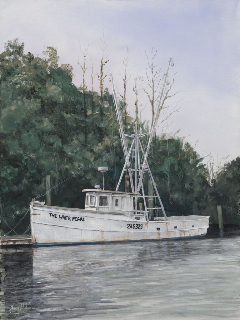 The White Pearl, acrylic on canvas, 24 x 18 by Tony Alderman at Craven Allen Gallery